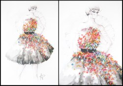 Inspired by Alexander McQueen's collection FW 2012-2013