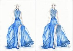 Inspired by Elie Saab's RTW collection SS 2013