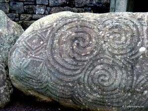 Newgrange Megalithic Rock Art - Entrance Stone