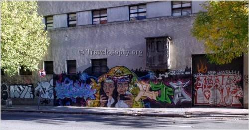 """Fried Grey Matter"", Street Art, Montevideo, Uruguay."