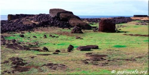 Paro - fallen moai - Te Pito Kura - Rapa Nui
