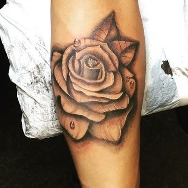 Rose tattoo today for Mark