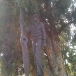 Amelia Earhart Statue at NOHO by Sculptor Ernie Shelton
