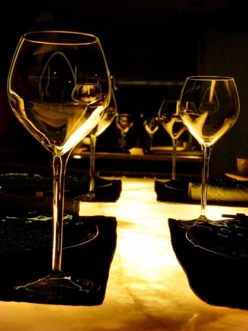 Wine glasses at Emperor