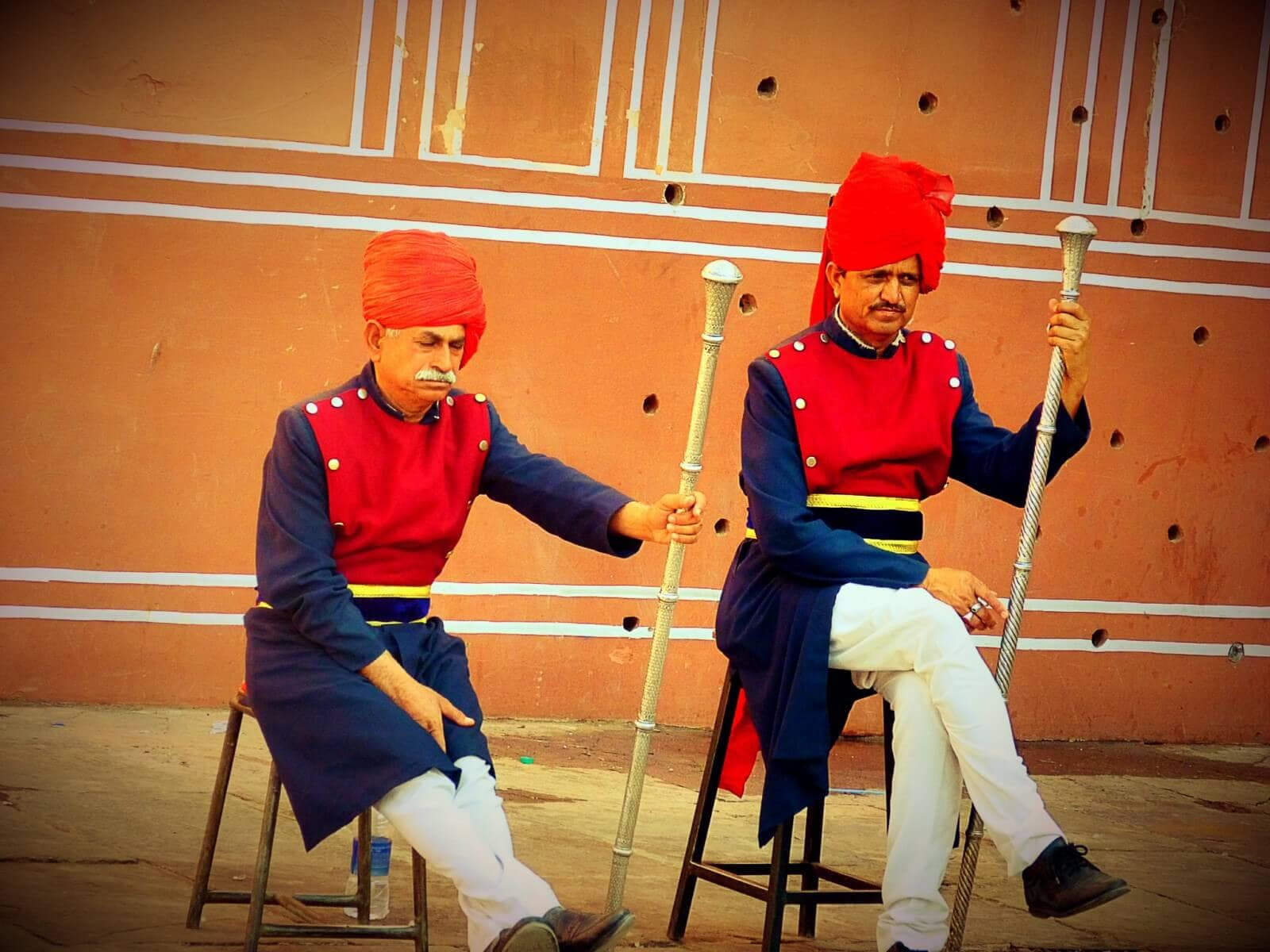 Guards at City Palace, Jaipur