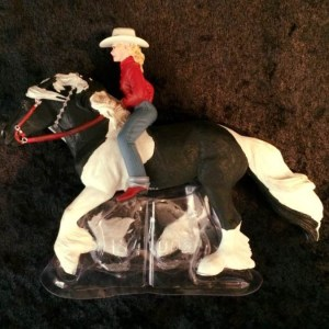Girl on Gypsy Vanner Figure