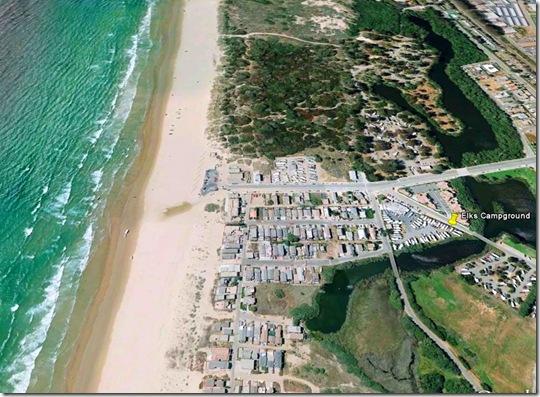 Google Earth view of Oceano