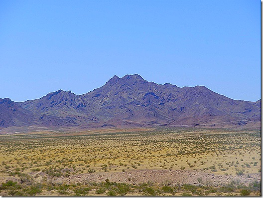 Mojave Desert mountain view