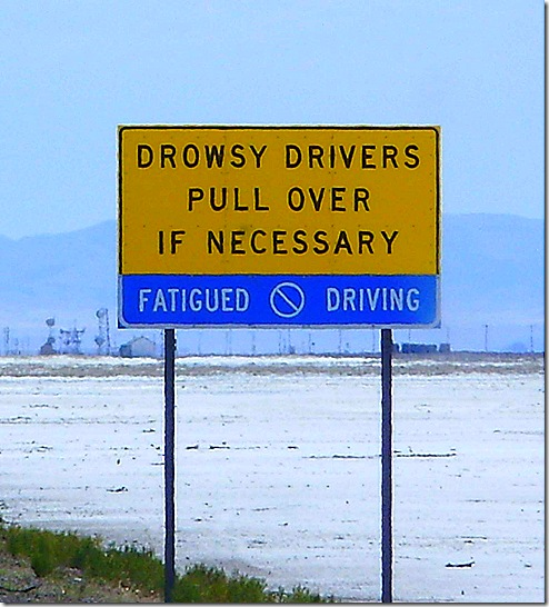 Drowsy drivers sign