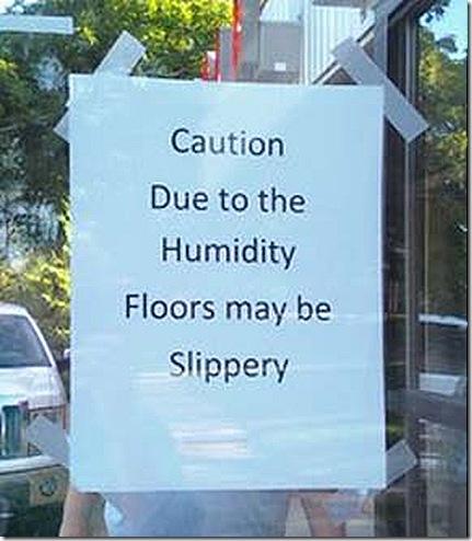 Humidity sign