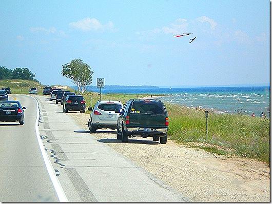 Lake Michigan kites