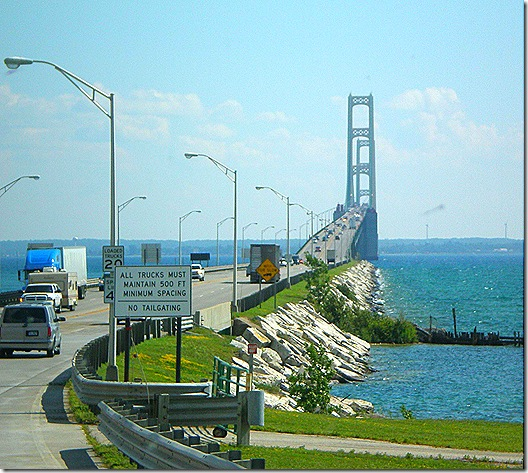 Mackinac Bridge approach