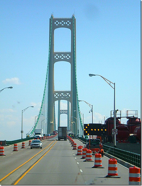 Mackinac Bridge construction zone 5