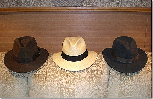 Three fedoras