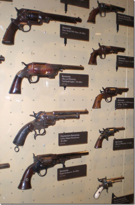 Visitor Center Museum revolvers