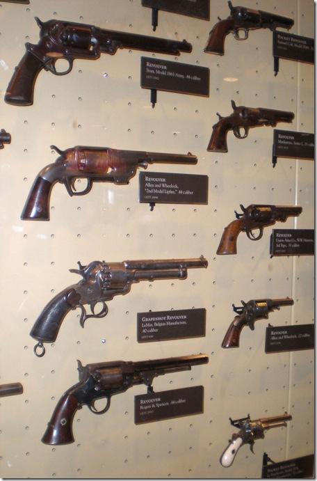 Visitor Center Museum revolvers