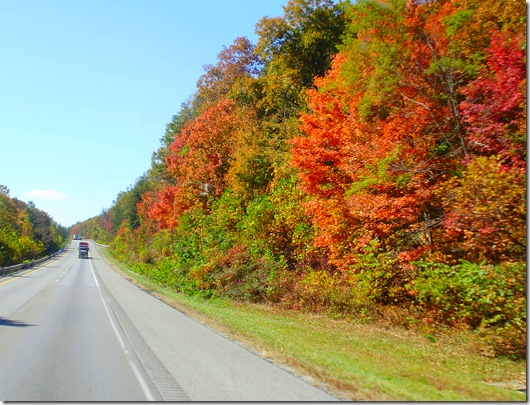 I 75 Tennessee fall colors