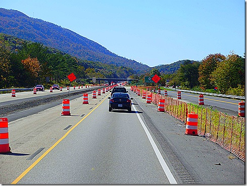 Virginia I 64 road construction 2