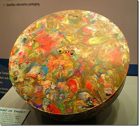 Waste plastic disk