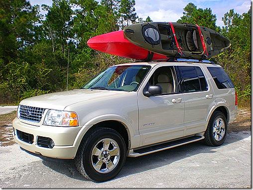 Kayaks on roof