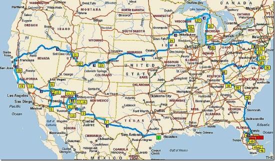 2010 Travel Map