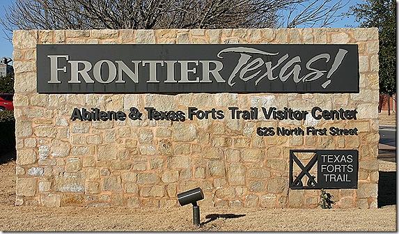 Frontier Tesas sign 2