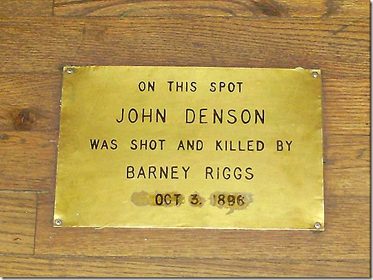 John Denson shot sign