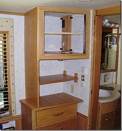 Bedroom cabinet door off