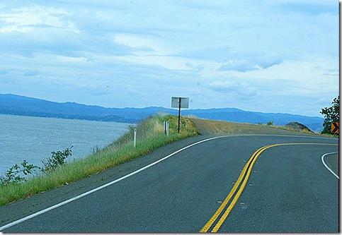 Route 20 lake curve