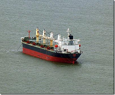 Ship in Columbia River