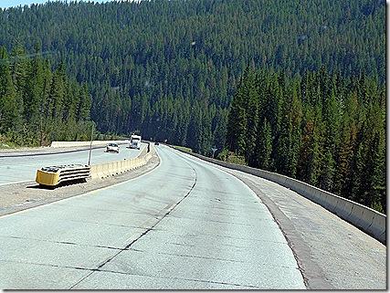 I 90 Montana downhill