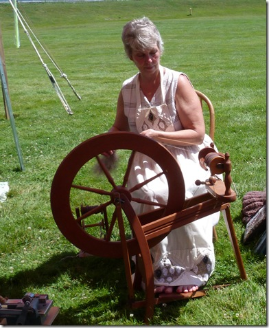 Pam Smith spinning