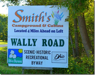 Smiths campground sign