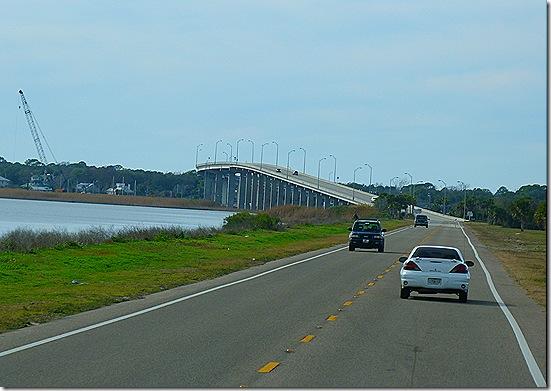 Coming toward bridge