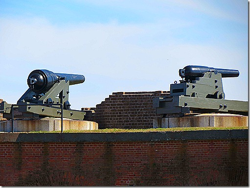 Cannons on wall