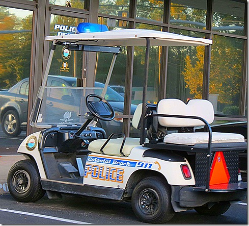 Golf cart police car