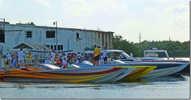 Racing boats docked 2