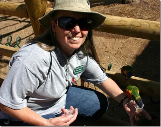 Terry feeding bird 3