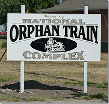 Orphan Train sign web