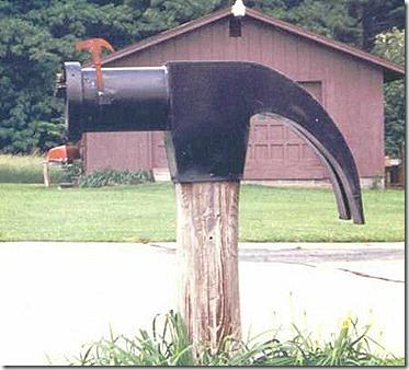 Hammer mailbox