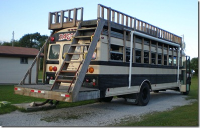 School bus with roof deck 3