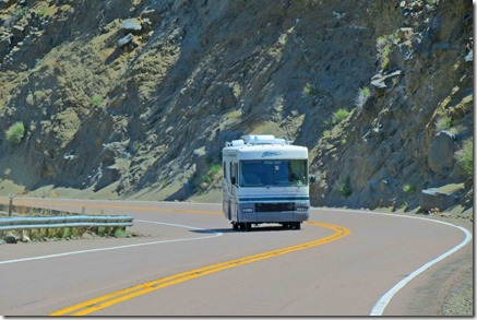 Motorhome in canyon