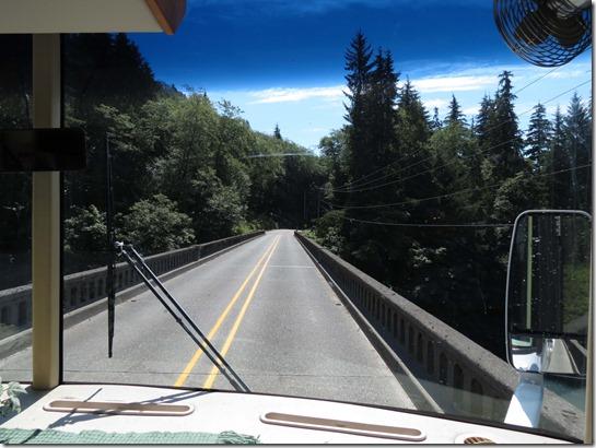 Crossing US 101 bridge