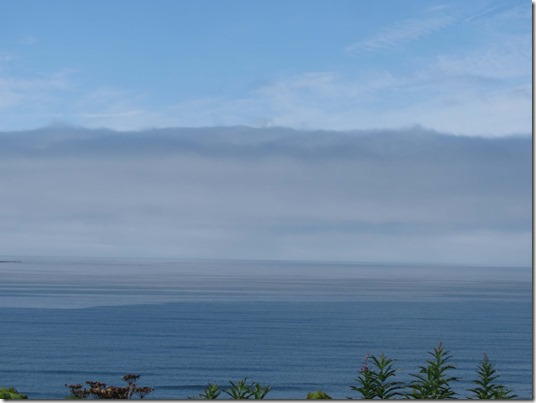 Fog bank over ocean