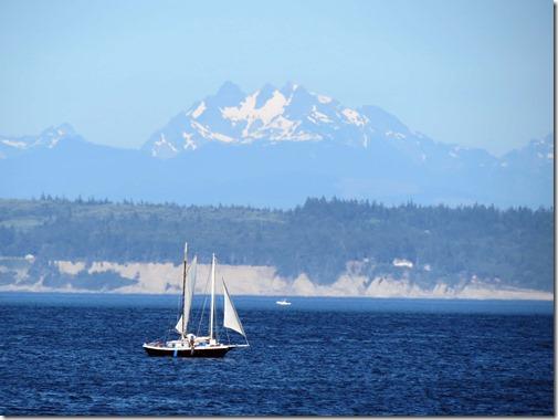 Sailboat and mountain