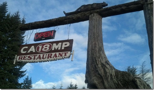 Camp 18 sign
