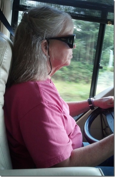 Terry driving to bridge
