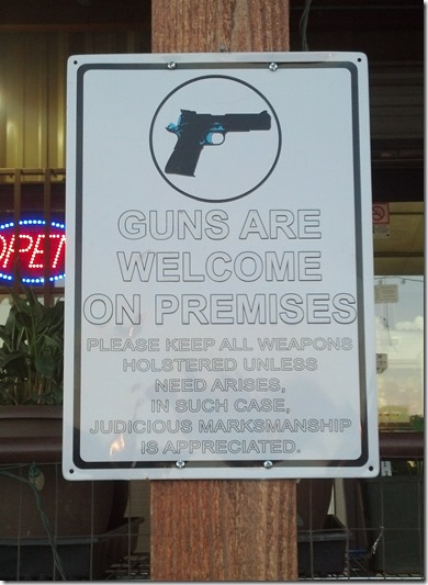 Guns Welcome Concho store