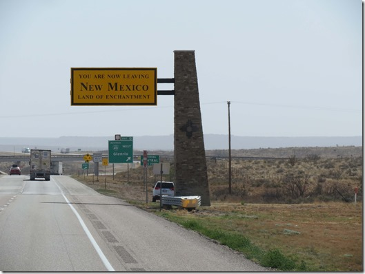 Leaving New Mexico sign