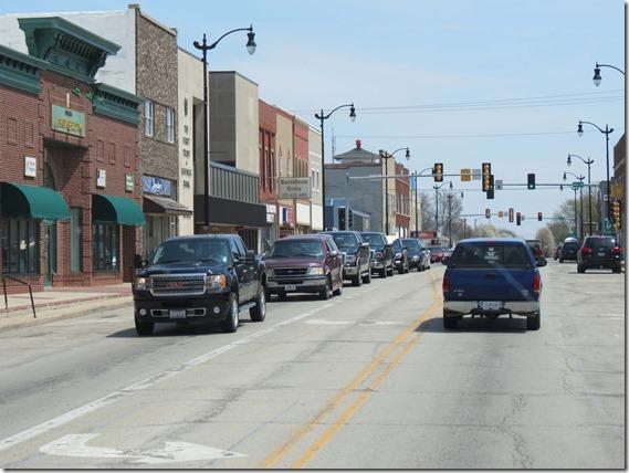 Small town Indiana main street